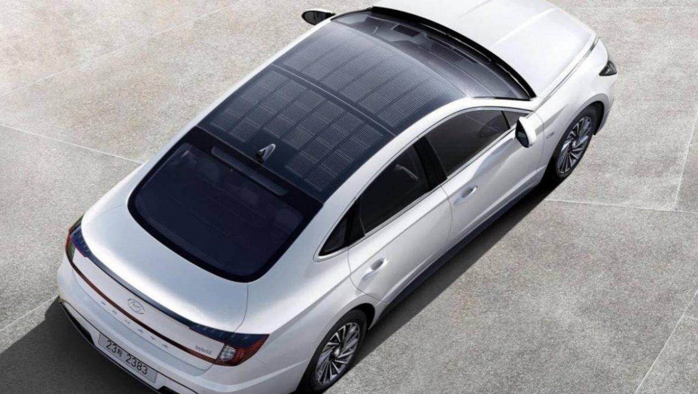 Hyundai mostra primeiro carro com painel solar no teto